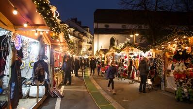 Der letztjährige Weihnachtsmarkt auf dem Franziskanerplatz. (Bild: Manuela Jans-Koch (5. Dezember 2020))