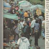 Die Ringstrasse in Wattwil verwandelte sich in eine Marktstrasse. (Bild: PD)