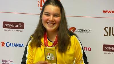 Mit neuem Schweizerrekord gewann Sandra Arnold aus Schattdorf die Goldmedaille. (Bild: PD)