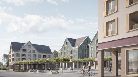 Visualisierung der geplanten Zentrumsüberbauung in Arnegg. (Bild: PD)