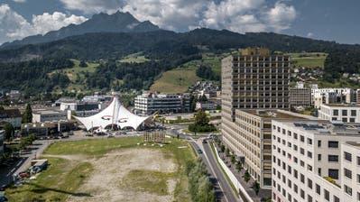Blick auf das Gebiet Luzern Süd, wo noch viel freies Bauland existiert. (Bild: Pius Amrein  (Kriens, 25. Juni 2020))