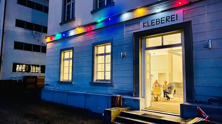 Das Lokal der «Kleberei» in der Abenddämmerung. (Bild: PD/Richard Lehner)