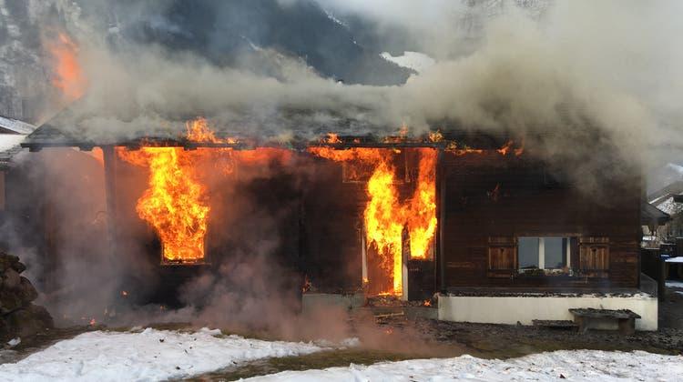 Am Gebäude entstand ein Sachschaden in der Höhe von mehreren hunderttausend Franken. (Keystone)