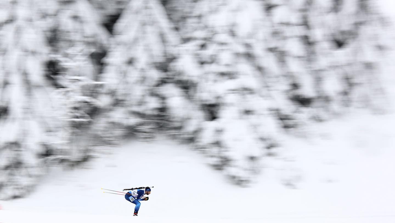 Corona hat auch den Biathlon-Sport fest im Griff. (Bild: AP)