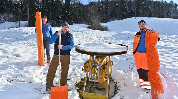 Der Skiklub Mümliswil ist in den Startlöchern, hat aber noch zu wenig Schnee für den Skibetrieb