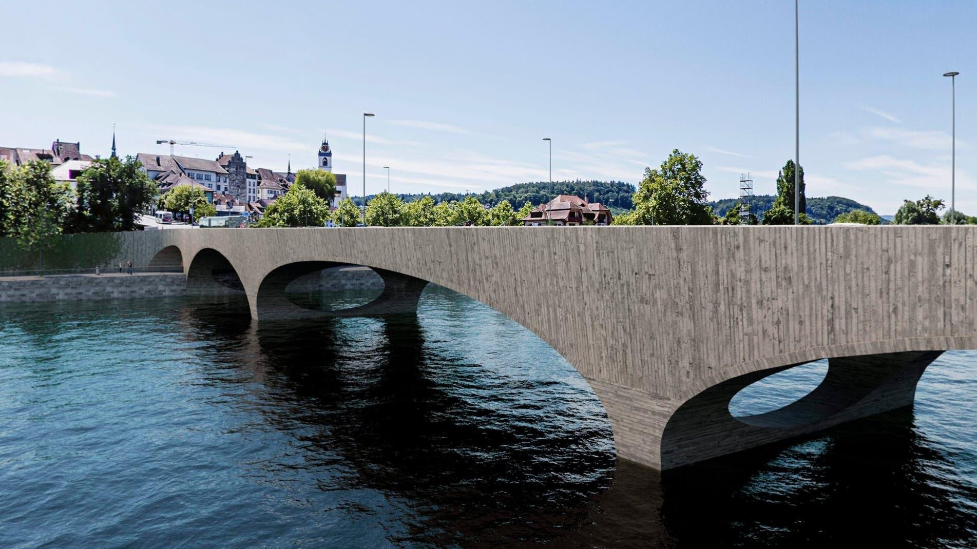 Die neusten Visualisierungen der neuen Kettenbrücke.