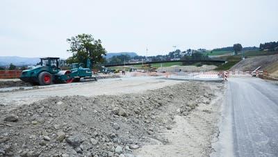 2018 noch eine reine Grossbaustelle. Mittlerweile rückt die Eröffnung der Tangente in greifbare Nähe. (Bild: Jakob Ineichen (29. September 2018))