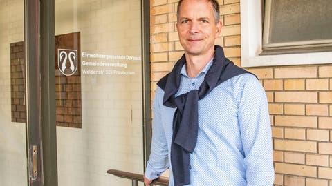 Dornacher Gemeindepräsident Christian Schlatter nimmt den Hut
