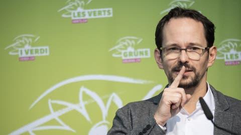 Fordert Werbeverbot für «unnötige Produkte»: Balthasar Glättli, der Präsident der Grünen. (Ennio Leanza / KEYSTONE)