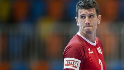 Er führt das Schweizer Team an: Handball-Star Andy Schmid. (Keystone)