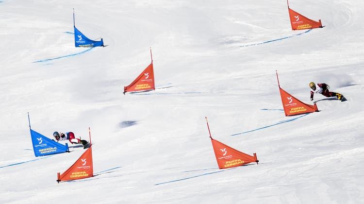 Kein Erfolg für die Schweizer Duos beim Parallel-Riesenslalom in Bad Gastein: Der Sieg geht an Österreich. (Keystone)