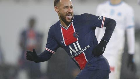 Er hat gut lachen: Neymar trifft zum 2:0 und ebnet seiner Mannschaft den Weg zum Titel. (Keystone)