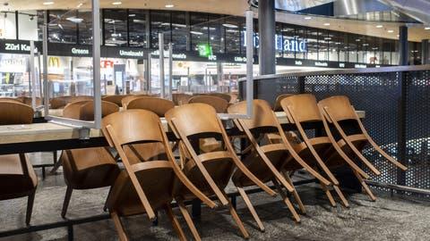 Bis Ende Februar müssen die Restaurants in der Schweiz schliessen. (Ennio Leanza / KEYSTONE)