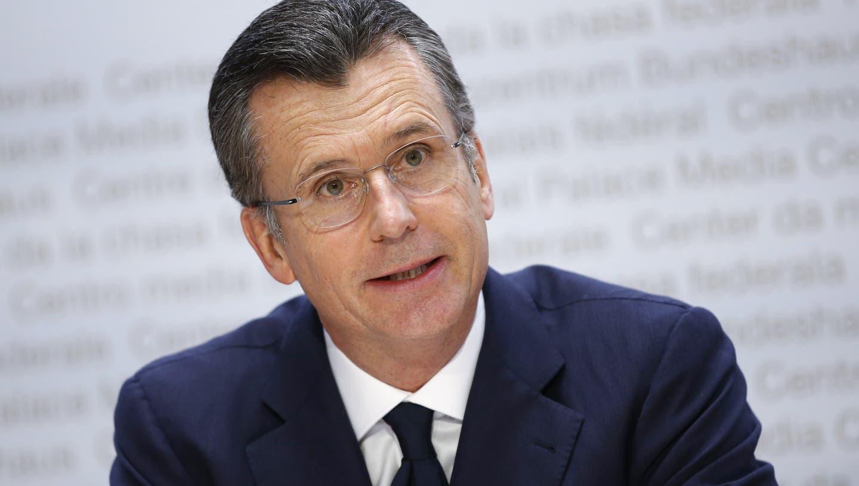 Philipp Hildebrand bei der Präsentation seiner Kandidatur an einer Pressekonferenz in Bern. (Keystone)