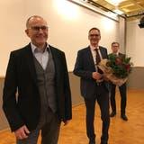 Von links: Der ehemalige Parlamentspräsident Roland Bosshart, der frisch gewählte «höchste Wiler» Christof Kälin und sein designierter Nachfolger Klaus Rüdiger. (Bild: Gianni Amstutz)