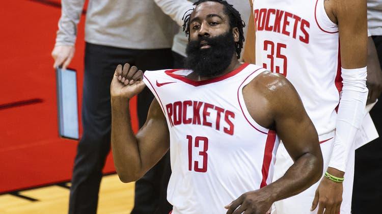 Mit den Houston Rockets hat James Harden schon länger abgeschlossen. Nun folgt der Wechsel nach New York. (Mark Mulligan / AP)