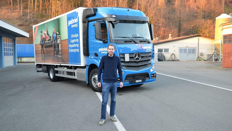 Patrick Gabriel, Geschäftsführer der Gabriel Transport AG. (Bild: Martin Uebelhart (Ennetbürgen, 11. Januar 2021))