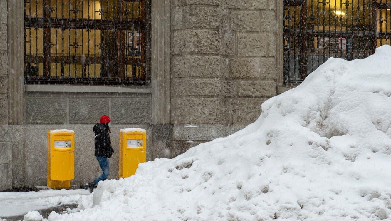 So wunderschön und so rekordverdächtig ist der derzeitige Schneefall in der Ostschweiz. (Bild: Arthur Gamsa)