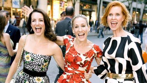 Und da waren es nur noch drei New Yorker Freundinnen: Kristin Davis, Sarah Jessica Parker und Cynthia Nixon sind bei den neuen Folgen wieder dabei. (Bild: Imago)