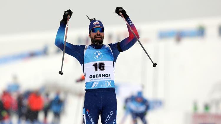 Jubel beim Zieleinlauf: Benjamin Weger darf sich über einen tollen persönlichen Erfolg freuen. (freshfocus)
