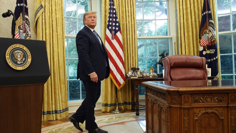 Bild aus besseren Tagen, als Mike Pence im Oval Office noch ein willkommener Gast war. (Keystone)