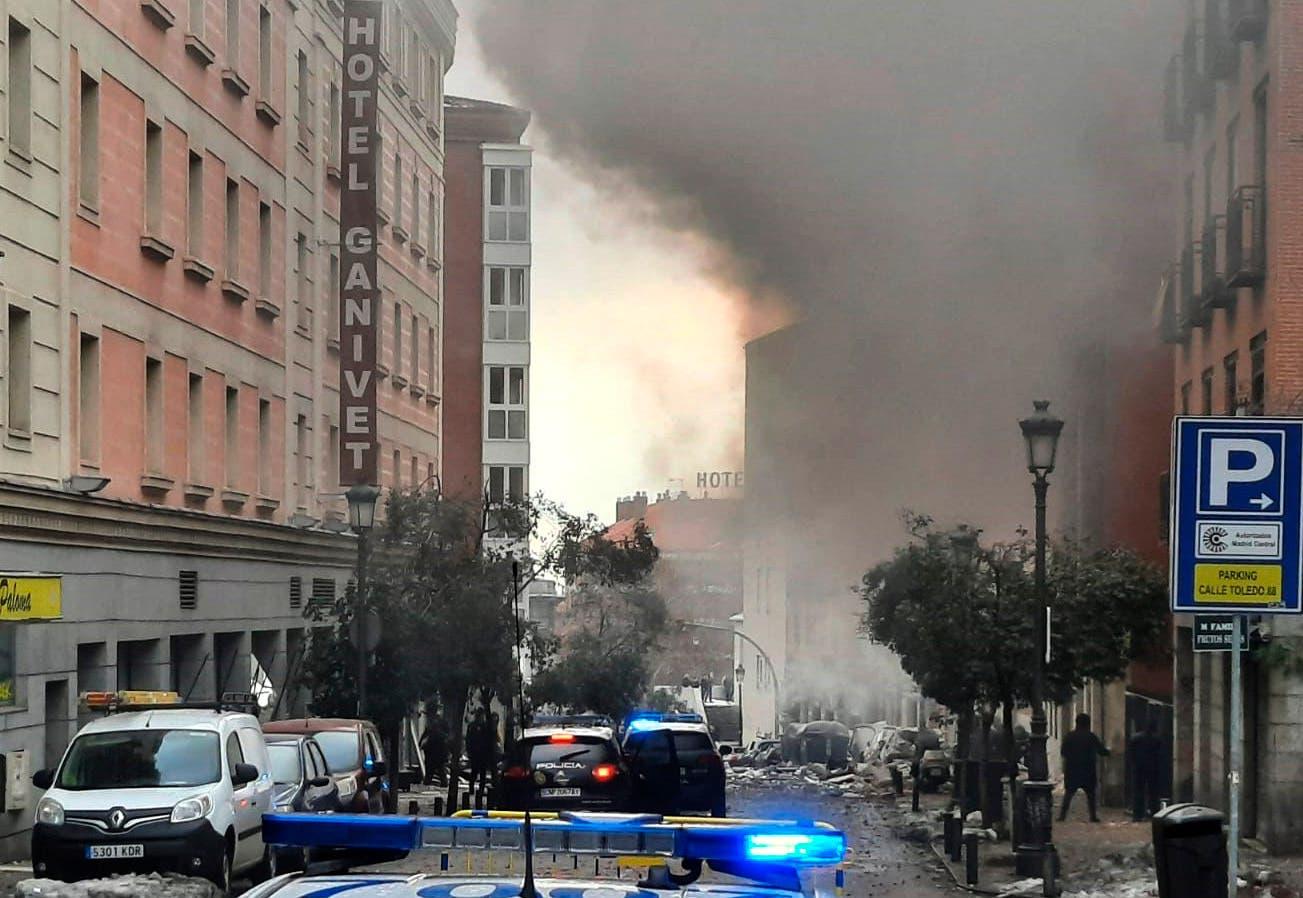 Im Zentrum von Madrid explodierte am Mittwochnachmittag ein Seniorenheim.
