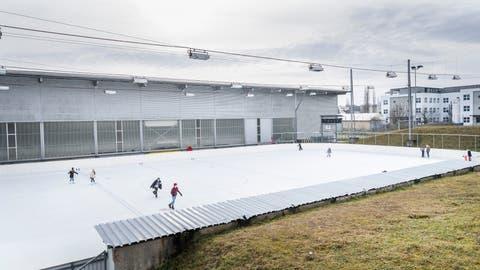Das Aussenfeld der Kunsteisbahn während der Aktivsportwoche. (Bild: Andrea Stalder (Frauenfeld, 27. Januar 2020))