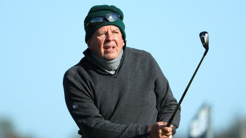 Richemont-Präsident Johann Rupert (70) beim Golfspielen in Carnoustie, Schottland. (Bild: Warren Little / Getty Images Europe)