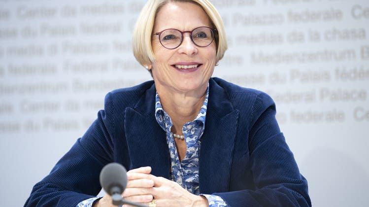 Staatssekretärin Livia Leu bei ihrer Ernennung im Oktober 2020. (Keystone)