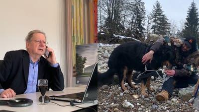 Hilari geht auch coronakonform: Gespräch per Telefon und ein Hund als Schlüsselbote