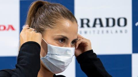 24.07.2020; Biel; Tennis - Pro Cup;Belinda Bencic mit Maske (Urs Lindt/freshfocus) (Urs Lindt / freshfocus)