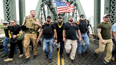 Eskalation der Gewalt in Washington: Vier Tote gab es bereits. (Paul Sancya / AP)