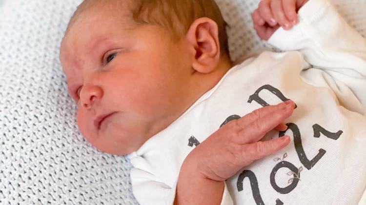Der kleine Gino ist das erste Baby, das im Jahr 2021 im Thurgau auf die Welt kam. (Bild: PD)