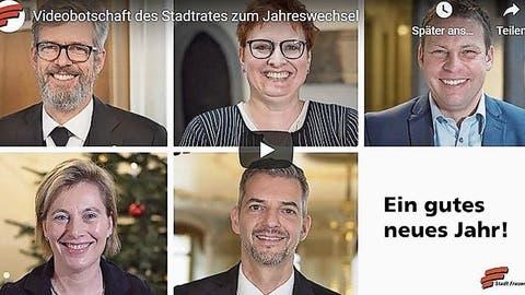 Die Neujahrswünsche des Frauenfelder Stadtrats kommen per Youtube