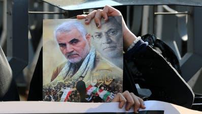 Bis heute verehrt im Iran: der ermordete General Qassem Soleimani. (Keystone)