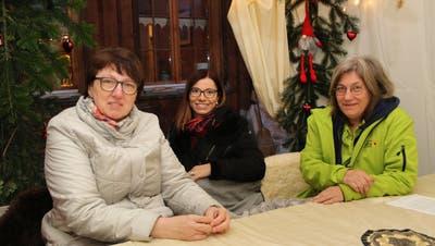 RehaEx-PräsidentinDoris Eberhardt, Gemeinderätin Sandra Stadler und Angelina Horber, Betriebsleiterin RehaEx. (Bild: PD)