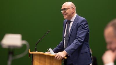 Am 17. Dezember wurde Martin Pfister zum neuen Zuger Landammann gewählt. (Bild: Matthias Jurt (Zug, 17. Dezember 2020))