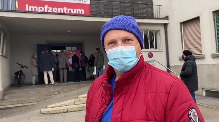 «Bin ein bisschen angespannt»: So geht es Solothurnern vor und nach der Impfung