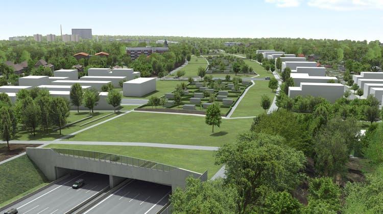Auf dem 2,2 langen Lärmschutztunnel Altona sollen Kleingärten sowie Grün- und Parkanlagen entstehen. (Implenia)