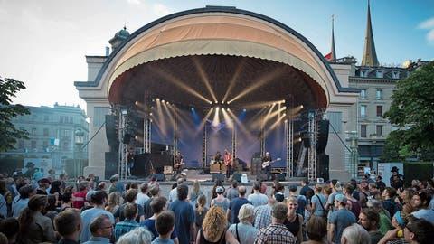 Der Pavillon ist während des Blue Balls Festival jeweils gut besucht. (Bild: PD/Nils Lucas (Luzern, 16. Juli 2019))