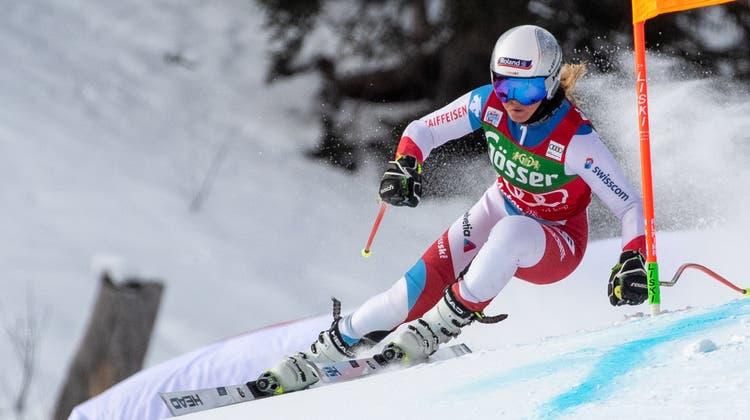 Fährt beim 2. Training im österreichischen St. Anton auf Rang 17:Corinne Suter. (Keystone)