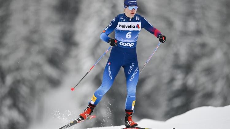 Nadine Fähndrich sicherte sich im Viertelfinale ein Lucky-Loser-Ticket. Im Halbfinale war dann Schluss. (Bild: Keystone)