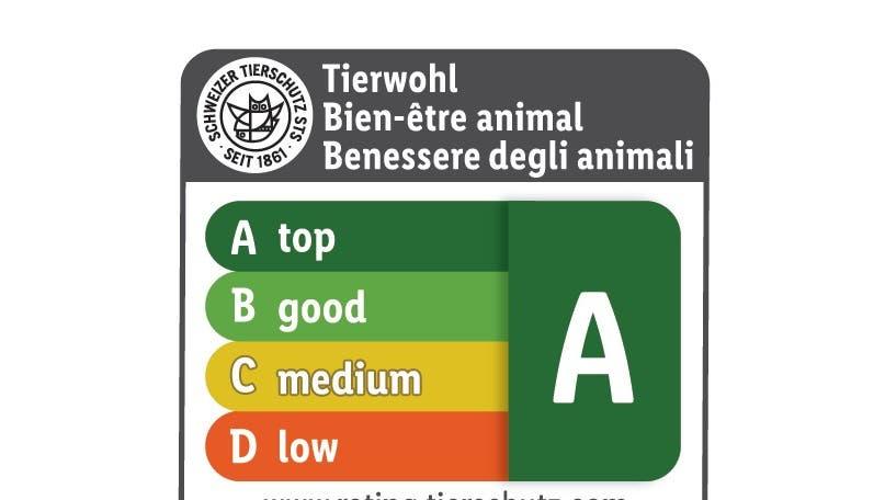 Das Rating bewertet die Fleischprodukte auf einer Skala von A bis D. (Lidl Schweiz)