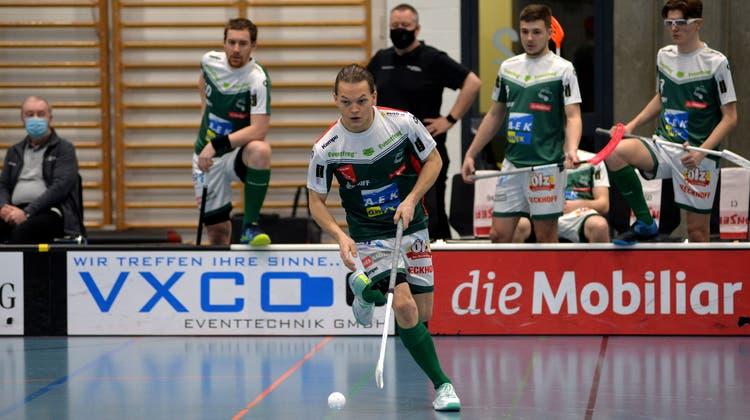Wiler-Ersigen Topskorer Michal Dudovic visiert mit seinem Team den Gewinn der Meisterschaft an. («Solothurner Zeitung»)