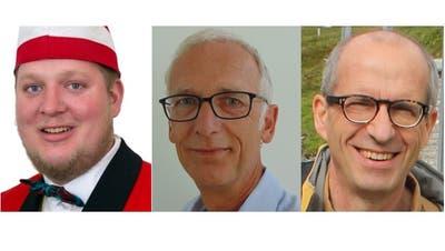 Die drei Kandidaten für den frei werdenende Sitz im Gemeinderat von Uesslingen-Buch: Dominic Wägeli, Andreas Richiger und Andreas Echsle. (Bild: Rahel Haag)