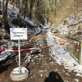 Der Weg durch die Hohlenstein-Schlucht ist aus Sicherheitsgründen vorderhand gesperrt. (Bilder: Andrea Häusler)