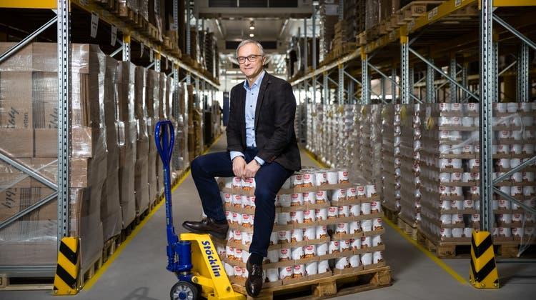 Peter Galliker, CEO Galliker Transport AG, glaubt an die Zukunft von Cargo Sous Terrain. (Philipp Schmidli / Neue Luzerner Zeitung)