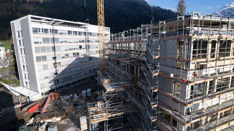 Bei der Arbeitsvergabe für den Neubau des Kantonsspitals Uri spielte das Submissionsrecht eine zentrale Rolle. (Bild:Baudirektion Uri/PD)