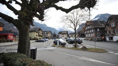 Dorfplatz Dallenwil. Bild: Urs Hanhart (Dallenwil, 5. Februar 2021) (Urs Hanhart / Nidwaldner Zeitung)