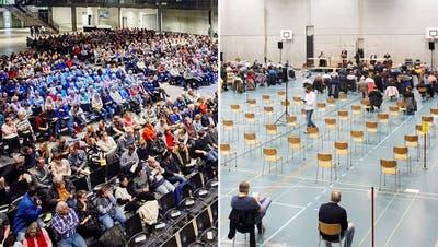 Spreitenbach organisiert sich neu: So lief die «Gmeind» in der Sporthalle Seefeld